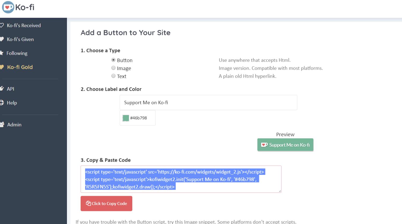 Add a Ko-fi Button to Your Tumblr – Ko-fi com Help Portal